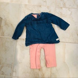 7 for all Mankind Baby Girl One Piece Outfit